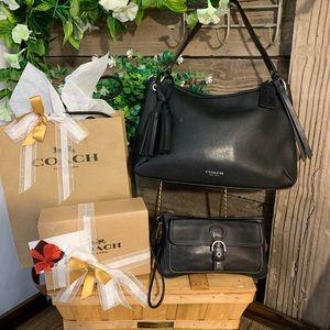 Coach Bags - Black Butter Soft Coach Purse & Wallet Gift Set